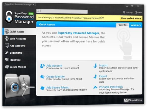 SuperEasy Password Manager - nebojte se ztráty hesla