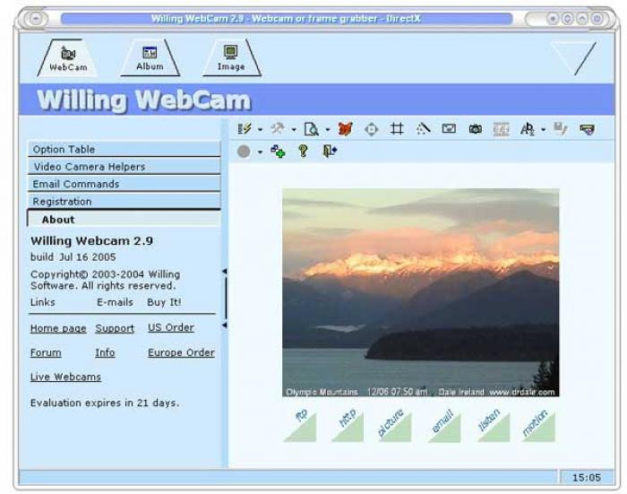 Willing Webcam - pokročilé zachytávání výstupu z webkamery