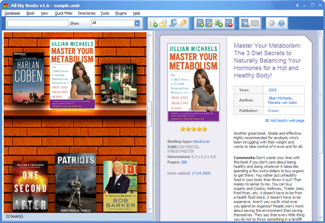 All My Books - skvělá aplikace pro sbírku vašich knih