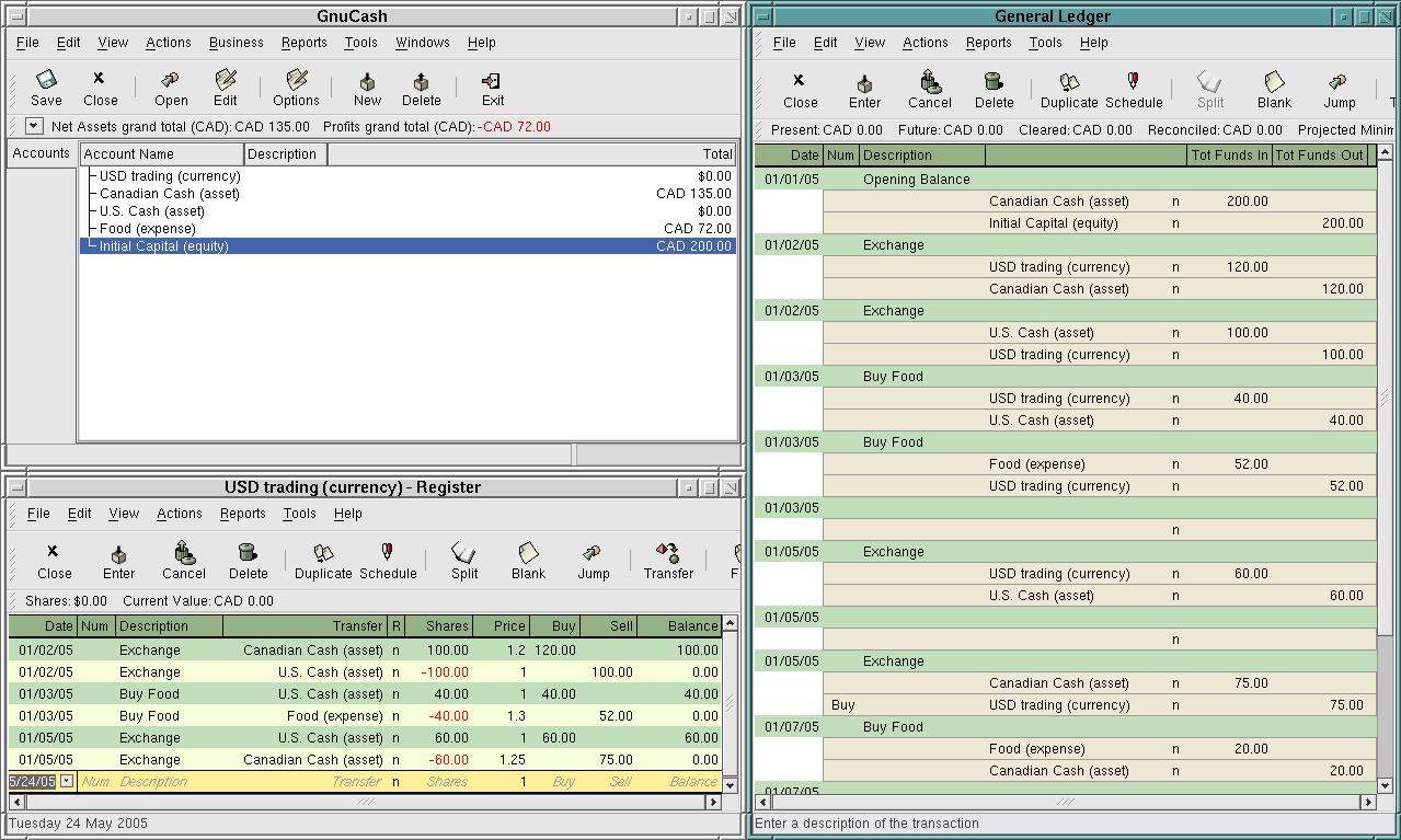 GnuCash - open source pro domácí účetnictví