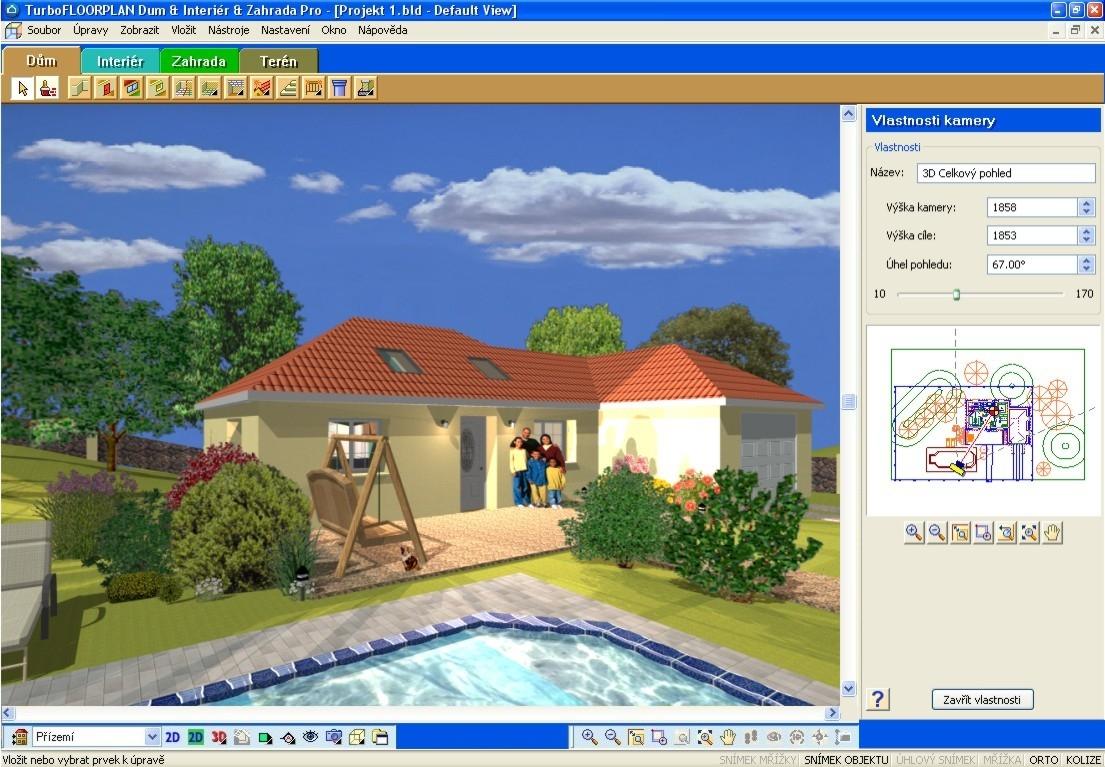 TurboFLOORPLAN Dům & Interiér & Zahrada - navrhování domu, bytu a zahrady