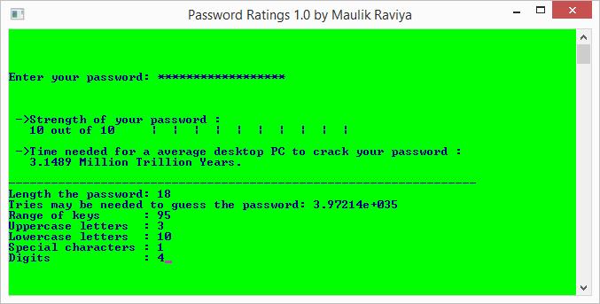 Password Ratings: úspěšně vytvořené silné heslo