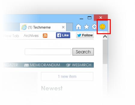 Smajlík/mračík na hlášení nesprávně se zobrazujících webů