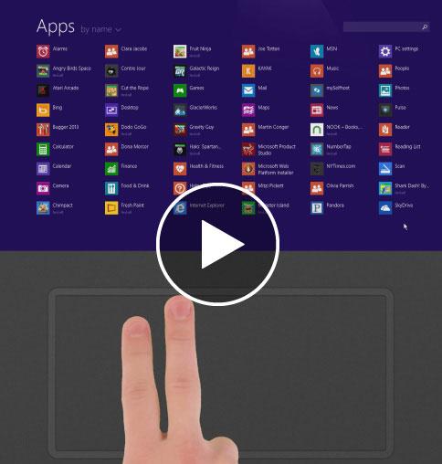 Multi-touch a nové příkazy
