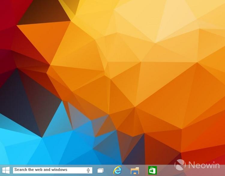 Vyhledávací okno přímo na hlavním panelu Windows 10