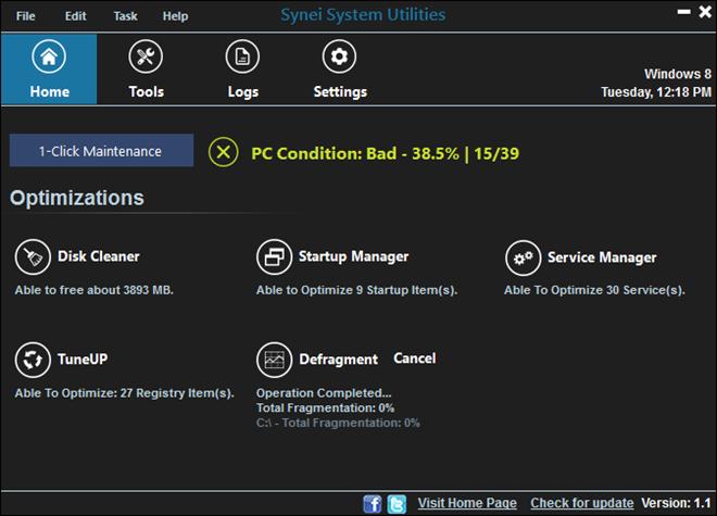 Synei System Utilities - dokonalá údržba a čištění vašeho operačního systému