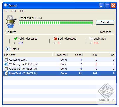 eMail Extraktor - aplikace pro extrahování e-mailových adres