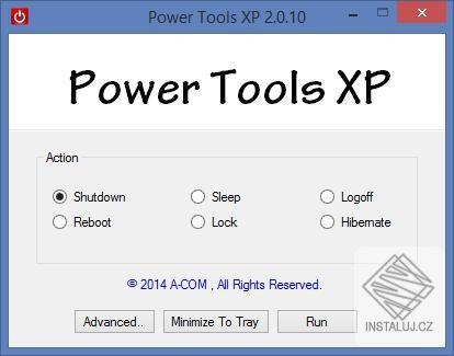 Power Tools XP - chcete automaticky vypnout Váš PC?