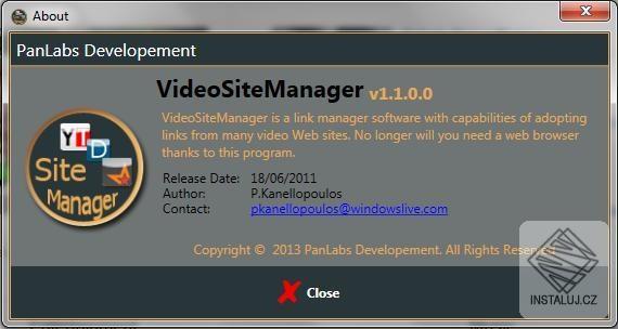 VideoSiteManager - snadná správa a třídění webových odkazů