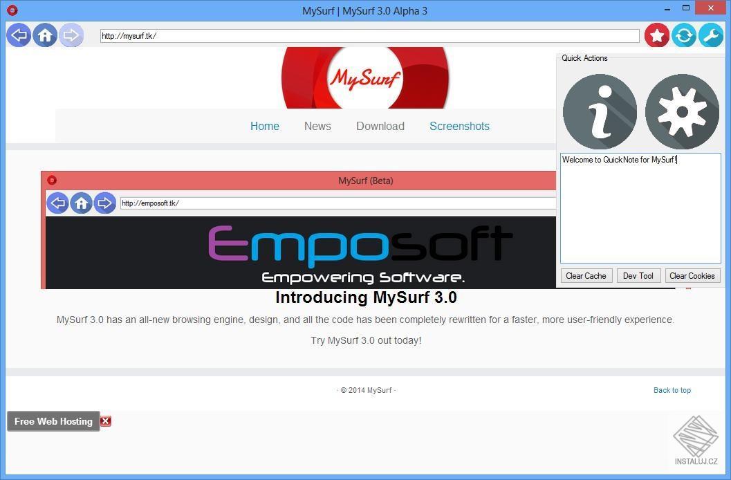 MySurf - internetový prohlížeč, který si uděláte přesně podle sebe