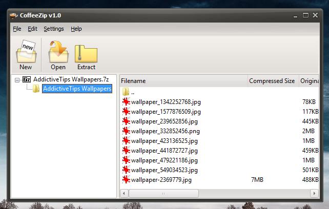 CoffeeZip - dokonale snadný archivátor souborů