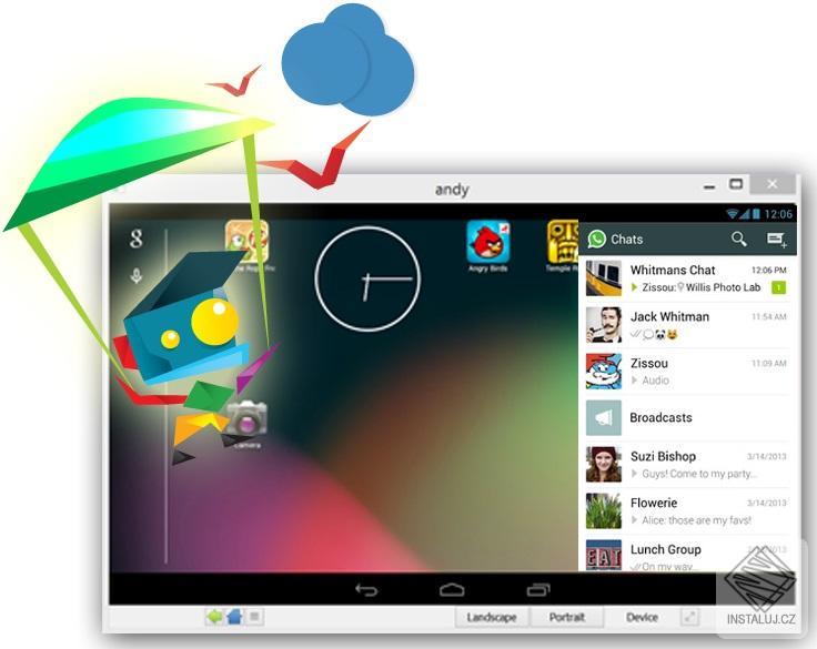 Andy - vaše začízení s OS Android na ploše vašeho počítače
