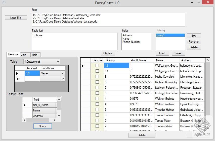 FuzzyCruce - čistíme databáze od duplicit