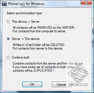 PhoneCopy - jednoduché zálohování a správa dat z telefonu