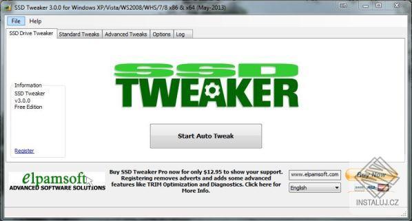 SSD Tweaker - optimalizace a obnovení výkonů SSD disků