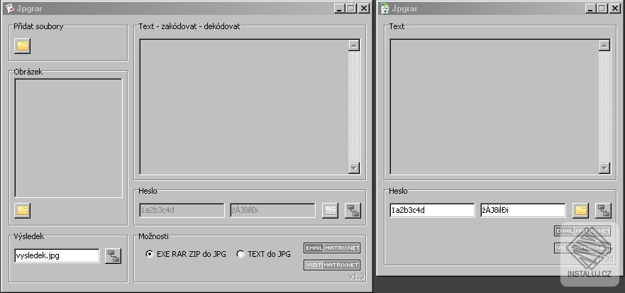 Jpgrar - schováváme ZIP, RAR a nebo EXE soubor do obrázku