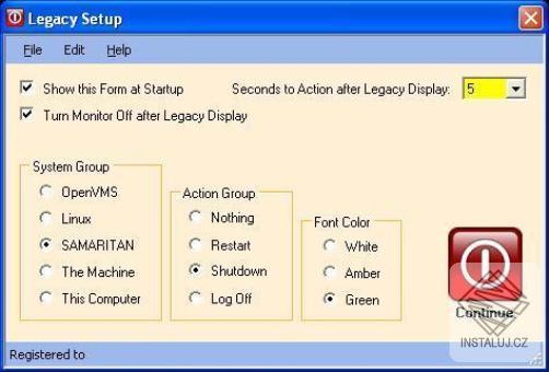 Legacy - vypnutí počítače se starším systémem