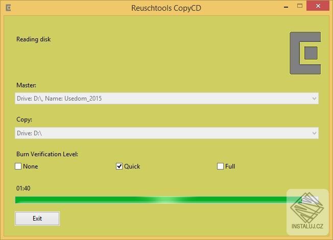 CopyCD - vícenásobné kopírování CD, DVD a BluRay