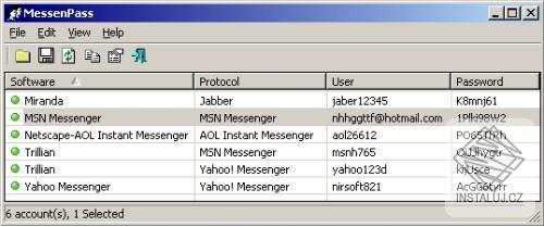 MessenPass - obnova hesel z komunikačních aplikací