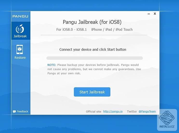 Pangu8 - jailbreak pro zařízení se systémem iOS