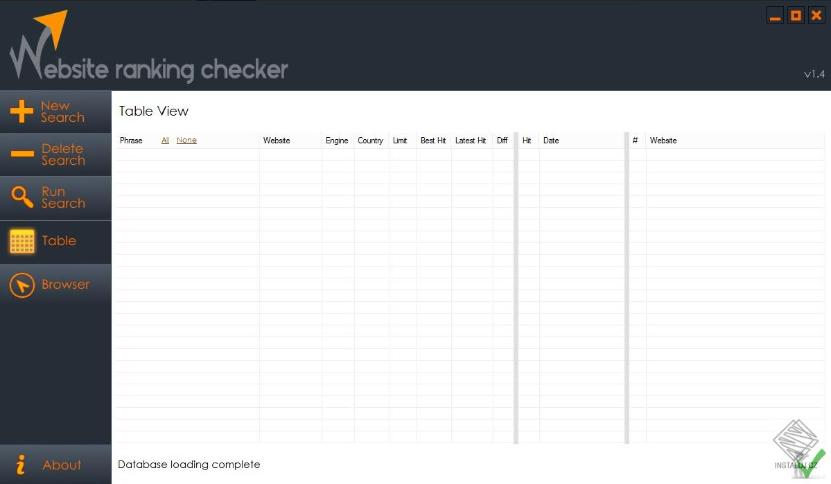 Website Ranking Checker - monitoring hodnocení vašich webových stránek