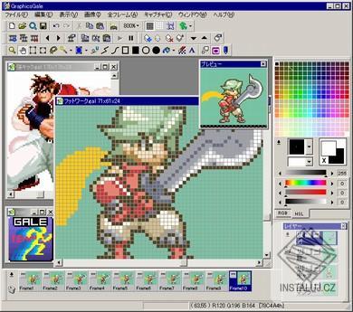 GraphicsGale - editace obrázků a tvorba animací