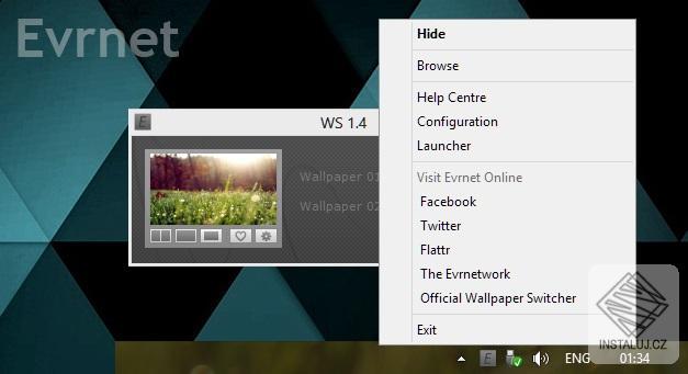 Evrnet Wallpaper Switcher - automatická změna tapety na vašem počítači