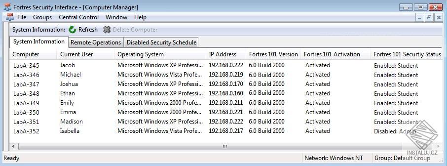 Clean Slate - ochrana veřejně dostupných počítačů