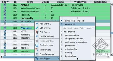 PDF Index Generator - tvorba indexu z obsahu PDF souboru