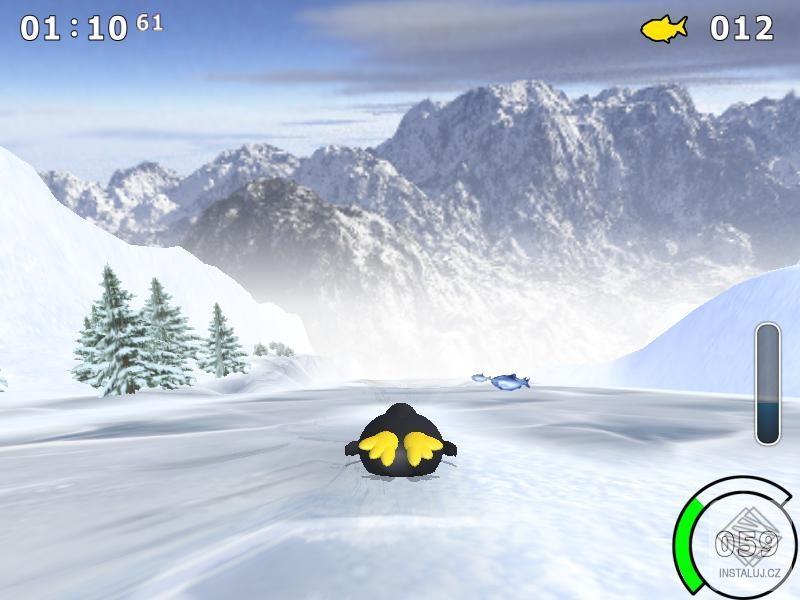 Extreme Tux Race - bláznivý sjezd s tučňákem