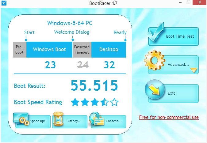BootRacer: podrobné vyhodnocení časů startu počítače