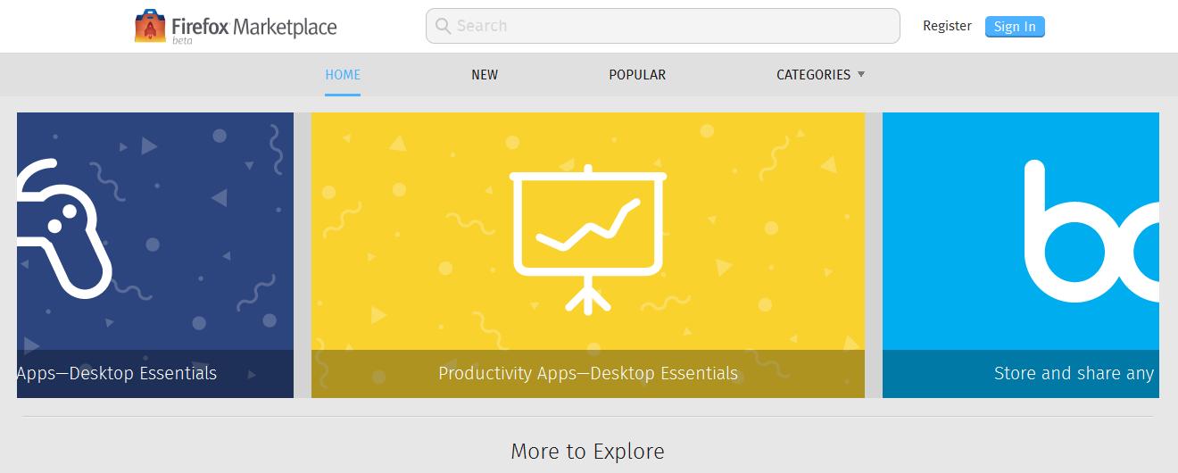 Aplikační obchod Firefox Marketplace