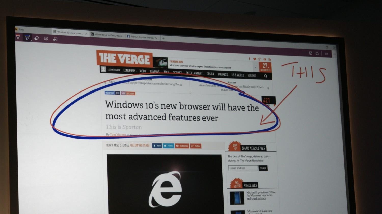 Spartan Windows 10: možnost opoznámkování webů