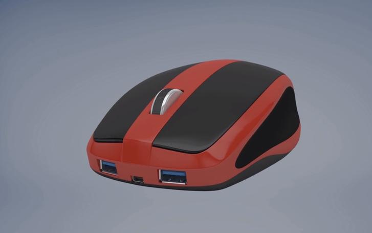 Mouse-Box myška a její porty USB 3.0 a micro-HDMI
