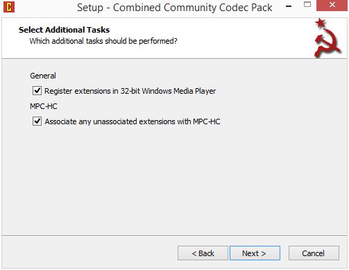 CCCP: asociace MPC-HC a registrace rozšíření v 32bitovém Windows Media Playeru