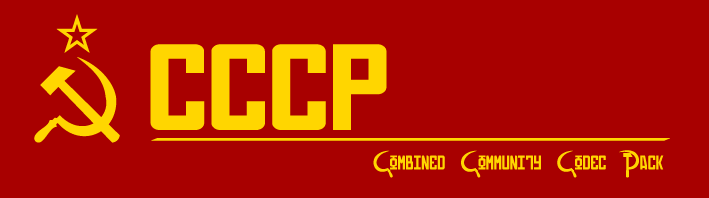 CCCP: Combined Community Codec Pack
