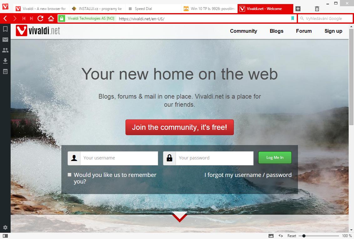 Vivaldi.net: komunitní prostředí, které by mělo nahradit fórum My Opera