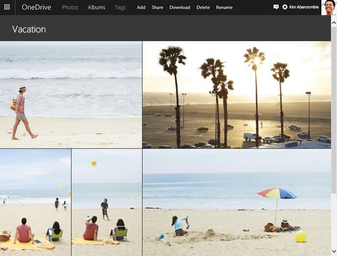 Snadno vytvoříte album ze všech zdrojů synchronizujících obsah s OneDrive