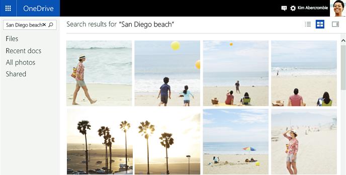 Algoritmy Bingu vyhledají fotky pomocí tagů vytvořených OneDrive