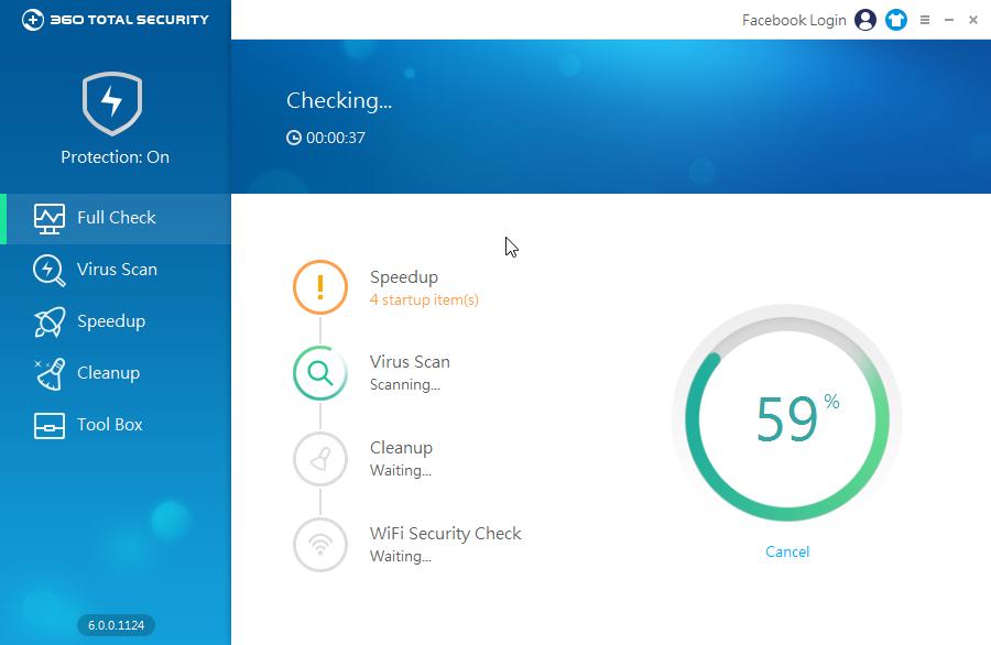 360 Total Security Full Check: krom kontroly jedním kliknutím obsahuje i kontrolu nastavení routeru