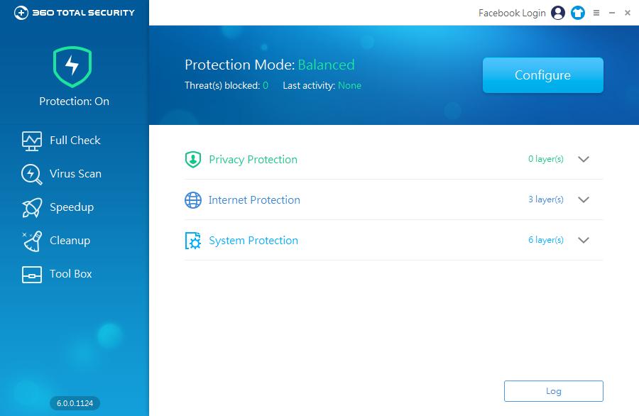 360 Total Security: nastavení módu real-time ochrany
