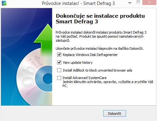 Instalace Smart Defrag zahrnuje i několik voleb nechtěných...