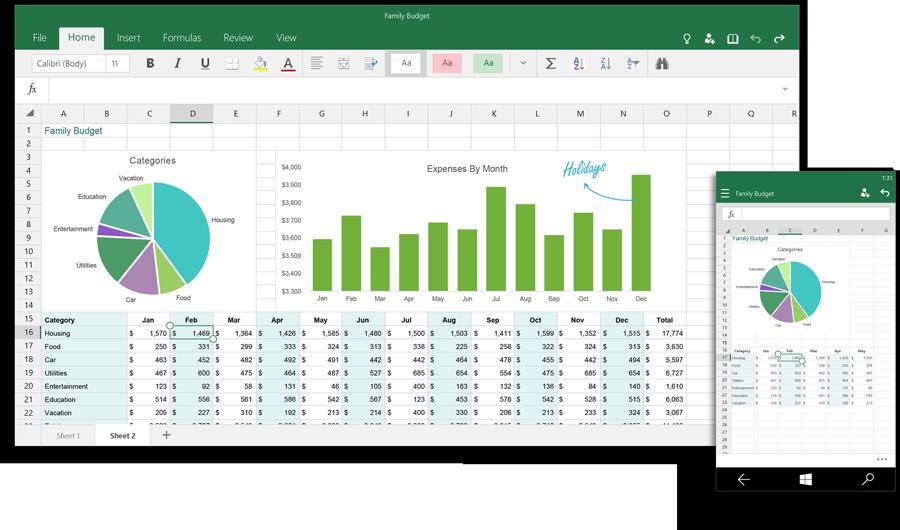 Excel Windows 10: buňky, tabulky a celé listy prý snadno upravíme dotykem