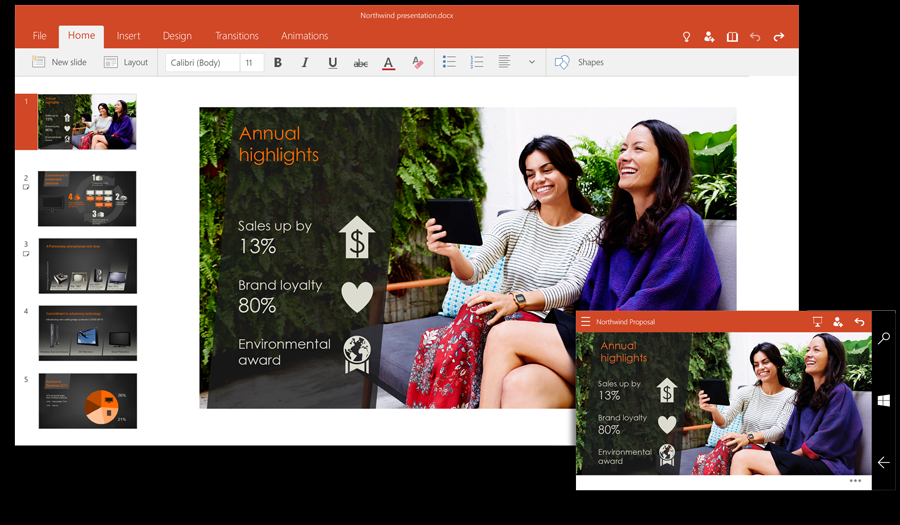 PowerPoint Windows 10