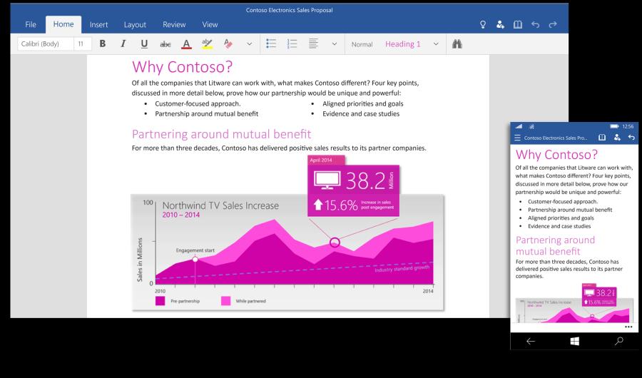 Word pro Windows 10 dotykových Office