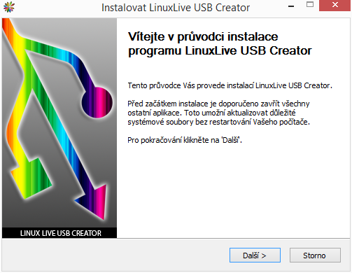 LinuxLive USB Creator nainstalujeme v češtině