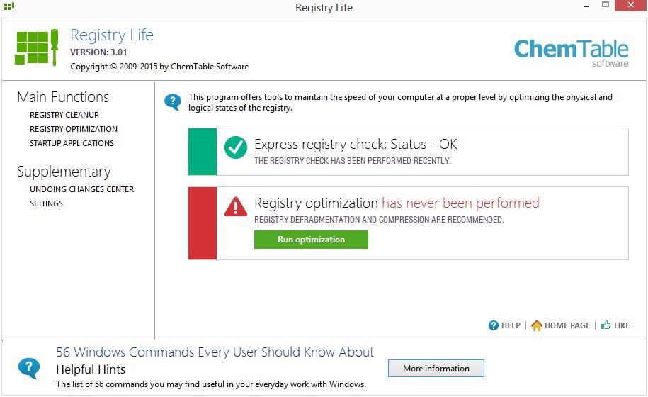 Registr vyčištěn - zbývá optimalizovat