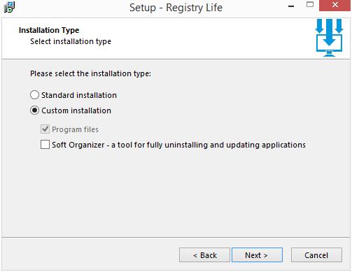 Registry Life: vybereme, zda chceme i přibalené aplikace