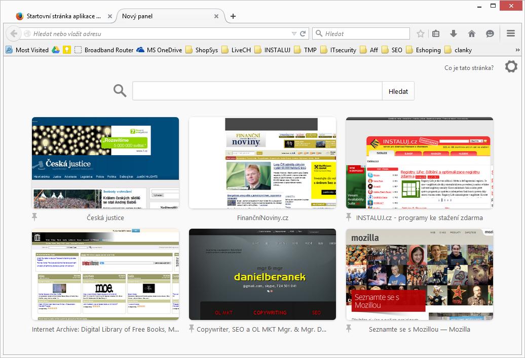 Firefox 36: podpora HTTP/2 a synchronizace panelů rychlého spuštění