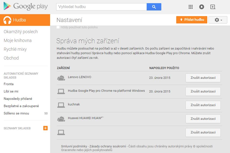 Nastavení služeb a synchronizace pomocí doplňku Chrome